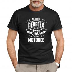 Nejlepší dědeček jezdí na motorce - pánské tričko s potiskem