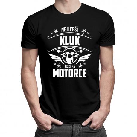 Nejlepší kluk jezdí na motorce - pánské tričko s potiskem