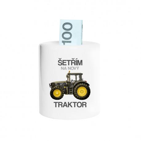 Šetřím na nový traktor - prasátko s potiskem