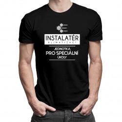 Instalatér klimatizací - jednotka pro speciální úkoly - pánské tričko s potiskem