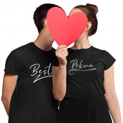 Komplet pro páry - Pěkná a Bestie - trička s potiskem