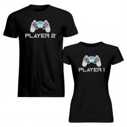 Komplet pro páry - Player 1, Player 2 v2- trička s potiskem