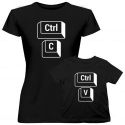Komplet pro mámu a dcery - CTRL+C CTRL+V - trička s potiskem