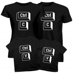 Komplet pro rodinu - CTRL+C CTRL+V - trička s potiskem