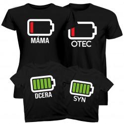 Komplet pro rodinu - Baterie - trička s potiskem