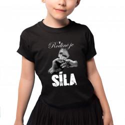 V rodině je síla - dětské tričko s potiskem
