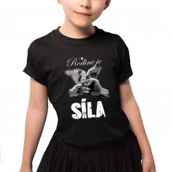 V rodině je síla v2 - dětské tričko s potiskem