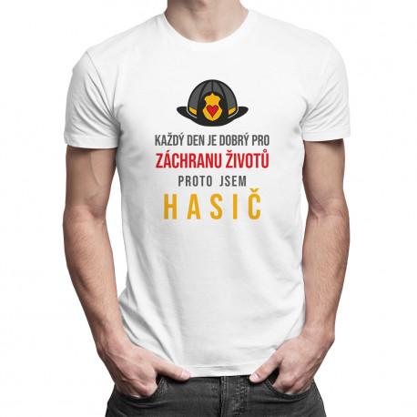 Každý den je dobrý pro záchranu životů - pánské tričko s potiskem