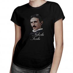 Nikola Tesla  - dámské tričko s potiskem
