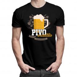 Pivo a modlitbu nikdy neodmítám - pánské tričko s potiskem