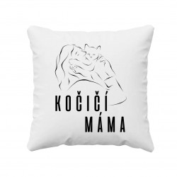 Kočičí máma - polštář
