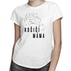 Kočičí máma - dámská trička  s potiskem