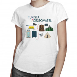 Cestovatel / Turista - dámské tričko s potiskem