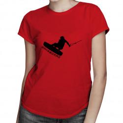 Wakeboard - dámské tričko s potiskem