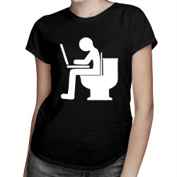 Toaletní kancelář - dámské tričko s potiskem