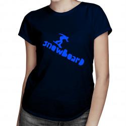 Snowboard of the trail - dámské tričko s potiskem