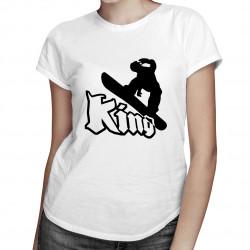 Snowboard king - dámské tričko s potiskem