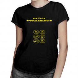Six Pack Training - dámské tričko s potiskem