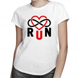 Run Infinity - dámské tričko s potiskem