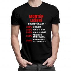 Montér lešení - hodinová sazba - pánské tričko s potiskem