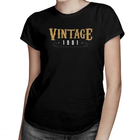 Vintage 1981 - dámské tričko s potiskem