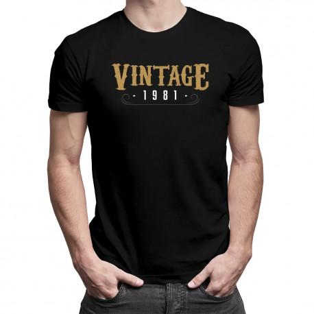 Vintage 1981 - pánské tričko s potiskem