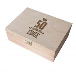50 let - limitovaná edice - dřevěná krabička s gravírováním