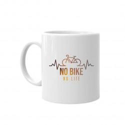 No bike no life - hrnek s potiskem
