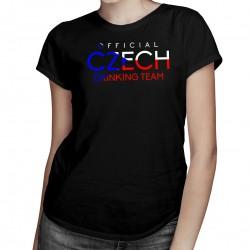 Official czech drinking team - dámské tričko s potiskem